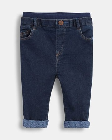 Jersey cotton denim jeans for baby boys