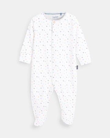 Printed sleepsuit and bib set